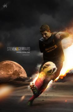Steven Gerrard #LFC #artwork Liverpool Players, Liverpool Fans, Liverpool Football Club, Soccer Drills For Kids, Play Soccer, Steven Gerrad, Stevie G, France Football, Uefa Super Cup