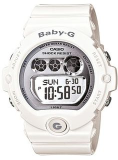 Shop for Casio Women's 'Baby G' Chronograph White Resin Watch. Get free delivery On EVERYTHING* Overstock - Your Online Watches Store! Casio G Shock Watches, Sport Watches, Casio Watch, Watches For Men, White Watches, Men's Watches, Casio Digital, Digital Watch, Best Sports Watch