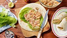 Knackige Möhren, cremiger Frischkäse, frisch gemahlener Pfeffer, etwas MAGGI Würze Hot und Thunfisch werden für die Thunfischcreme benötigt – den Wrap damit bestreichen und genießen!