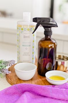 3 Amazing Castile Soap Cleaning Recipes To Make Your House Sparkle. From bathroom tile softscrub cleaner to all purpose spray and natural dusting spray, these recipes have you cleaning naturally from popular US lifestyle blogger Tabitha Blue of Fresh Mommy Blog