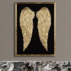 Gilded Wings from Z Gallerie Feather Wall Art, Gold Wall Art, Feather Painting, Diy Wall Art, Angel Wings Painting, Angel Wings Art, Angel Wings Wall Decor, Feather Angel Wings, Bild Gold