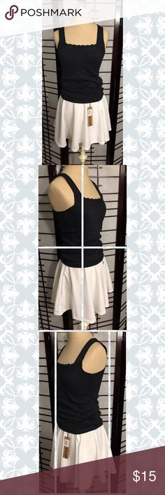 """🌻 Brand New White Skater Skirt 🌻 So cute, this skater skirt can be worn so many ways.  I bought this from another Posher but it is way too small.  I also have it in black and blue.  Measurements:  Waist 13"""" across unstretched and 15.5"""" stretched.  The length is 15.25"""". Style Skirts Circle & Skater"""