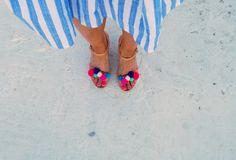 platform pom pom/leather /high heel platform with pom pom /linen platform/woman shoes /woman sandals/pom pom high heel by aeliasandals on Etsy