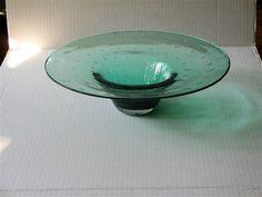 Vintage Blenko Bowl Antique Green, mid by on Etsy Solar, Blenko Glass, Cottage Chic, Vintage Shops, Decorative Bowls, Glass Art, Blue Green, Shapes, Antiques