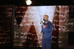 Common, award-winning hip-hop artist, actor, founder of the Common Ground Foundation and co-chair of We Day Illinois, performs an original spoken word piece. Photo Credit: Getty Images, Jeff Schear