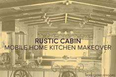 So cool! Mobile Home Kitchens, Mobile Home Living, Home And Living, Remodeling Mobile Homes, Home Remodeling, Country Woman Magazine, Mobile Home Makeovers, Tile Murals, Old Barns