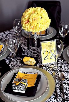 My wedding theme....except pink, not yellow