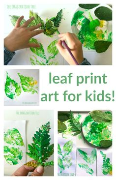 Kunstprojekte Für Kinder Leaf Art Projects For Kids Leaf – PiWitter Forest Crafts, Forest Art, Nature Crafts, Art Crafts, Plate Crafts, Projects For Kids, Crafts For Kids, Toddler Art Projects, Imagination Tree