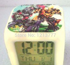 4 Pcs Led Transformers Alarm Clock Movie/Cartoon Style Changing Clock