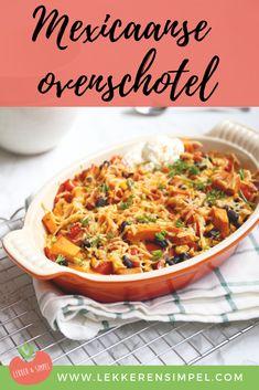Mexicaanse ovenschotel met zoete aardappel - Lekker en Simpel