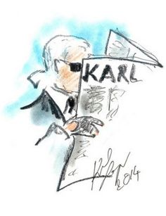 "In a move straight out of the 18th century, Karl Lagerfeld has announced that he is launching a ""satirical broadsheet."" (Between this and the powdered hair, he's really channeling the Enlightenment.)"