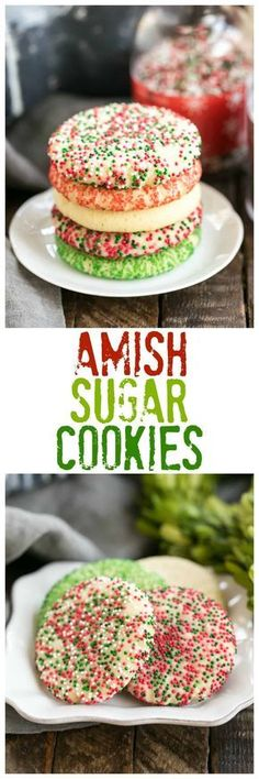 Old-Fashioned Amish Sugar Cookies   Perfect for any occasion! #cookies #sugarcookies #holidayrecipes #amishrecipes Christmas