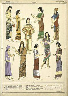 Mesopotamian civilizations developed impressive skills for fashioning clothing. The evidence of these civilizations' clothing remains on sculptures, pottery, and in writings left on tablets and royal tombs. It indicates that a thriving textile or fabric industry existed in the early civilizations of Mesopotamia. Although the earliest civilizations used animal skins to protect themselves from the environment. Wool was the most common fabric used to make clothing.