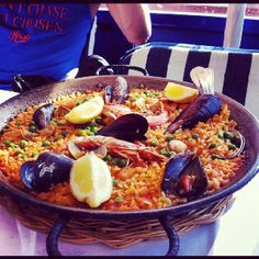 Our last meal in Barcelona. We ate traditional Paella along with Sangria. Yum!