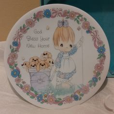 """1992 Precious Moments 4""""  Plate """"God Bless Your New Home""""  Mint in Box by NonasFinds on Etsy"""