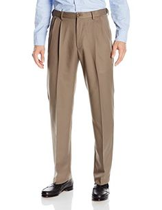 Men's Clothing - Haggar Mens Cool 18 Hidden ExpandableWaist PleatFront Pant >>> You can find out more details at the link of the image. (This is an Amazon affiliate link)