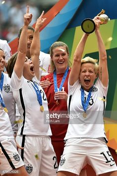 Megan Rapinoe #15 of the United States celebrates after winning the FIFA Women's World Cup Canada 2015 5-2 against Japan at BC Place Stadium on July 5, 2015 in Vancouver, Canada.