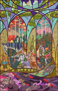 Lord-of-the-Rings-illustrated-in-stained-glass-6