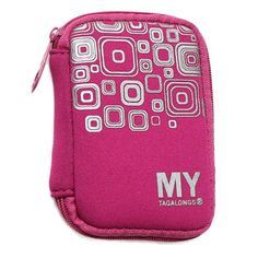 Organizing and Fitness Essentials: Ear Bud Case in Enter the Void Pink/Silver
