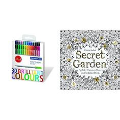 Stabilo Finliner Pens with Secret Garden Colouring Book