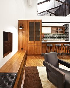built in cabinet - entertainment unit - seat