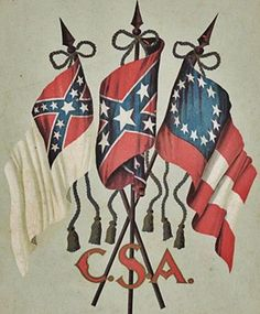 confederate banners
