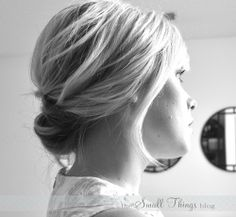 chic updo tutorial short hair.