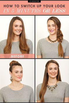 How to Switch Up Your Look in 5 Minutes or Less [ Waterbabiesbikini.com ] #beauty #bikini #elegance #class
