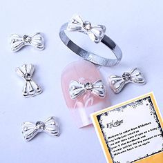 BTArtbox 10pcs Special Unique Cute Bowtie Bowknot Nail Designed 3d Decorations Nail Art Decals  a unique ring free gift >>> You can find out more details at the link of the image.
