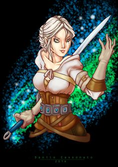 Ciri - The Witcher III - The Wild Hunt by Bilcassonato
