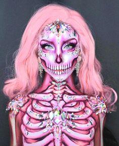 Amazing Halloween Makeup, Halloween Eyes, Halloween Kostüm, Zombie Makeup, Scary Makeup, Makeup Art, Makeup Eyes, Cosplay Makeup, Costume Makeup