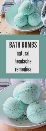 Are you searching for natural headache remedies that work? Try making these soothing DIY bath bombs to wash your head tension away! #migraineremedystore