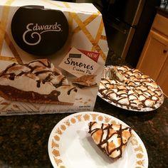 So good! Smores Creme Pie. #gotitfree @edwardsdesserts #owntheoccasion
