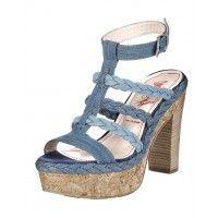 Plateauzool sandaal van Miss Sixty in blauw 39 40