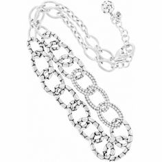 Pebble Pave Link Necklace  available at #Brighton