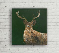 Deer Original Acrylic Painting 24X24 Deer by NatkOriginalArt