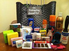 Wedding Day Survival Kit for Bride