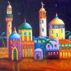 China Painting, Tole Painting, Aladdin Art, Religious Paintings, Mobile Art, Ramadan Decorations, Islamic Art Calligraphy, Inspirational Artwork, Jewish Art