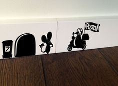 Pizza Mouse Italy Food Decor Art wall decal vinyl stickers Aufkleber autocollant | eBay