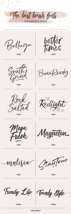 Esta es mi selección de las mejores fuentes estilo Brush para tu blog, web o marca personal. Dale estilo y personalidad a tus gráficos. This is my selection of the best Brush style fonts for your blog, web o branding. Bring style and personality to your graphics.