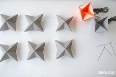 DIY Geometriske ophæng - Starfolds.dk
