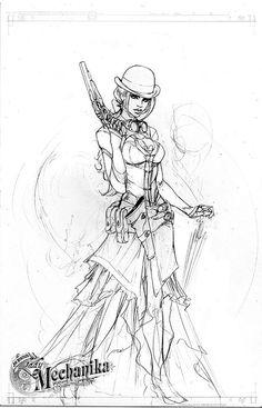 Lady Mechanika concept 1 by joebenitez.deviantart.com on @deviantART
