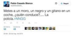 """Un falso Tuit de Pablo (PP) casado sobre """"un moro, un negro y un gitano"""", viral en las re..."""