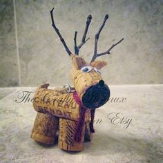 Bryan is getting his! Get your #winecork #reindeer #ornaments for #Christmas! Also on http://thecraftywineaux.com!