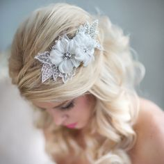 Items similar to Wedding Flower Hair Comb, Rhinestone Bridal Headpiece, Lace Floral Headpiece, Flower Headpiece on Etsy Floral Wedding Hair, Hair Comb Wedding, Headpiece Wedding, Floral Hair, Bridal Headpieces, Flower Headpiece, Wedding Hair Accessories, Jewelry Accessories, Wedding Beauty