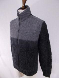NWT DALMINE maglione uomo BOMBER lana merino super100 s ANTRACITE  tg.50(M)-52(L) 9f0171ee4b88