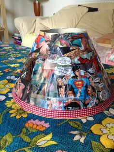 Superhero lampshade :)