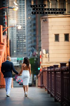 Bella & Ahmad Engagement Session LaSalle Bridge Chicago, IL August 7, 2014