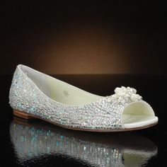 Halle by Benjamin Adams Wedding Shoes at My Glass Slipper Bridal Party Shoes, Bridal Flats, Flower Girl Shoes, Girls Shoes, Fancy Shoes, Me Too Shoes, Cinderella Wedding, Mob Dresses, Wedding Heels