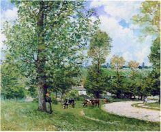 impressionism-art-blog: Cow Pasture near Louveciennes via Alfred...